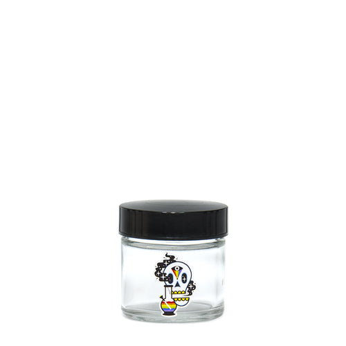 X-Small Clear Screw-Top - Cosmic Skull - a 420 Jars, from 420 Science - find at 420Science.com