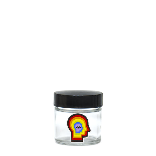 X-Small Clear Screw-Top - Rainbow Mind - a 420 Jars, from 420 Science - find at 420Science.com