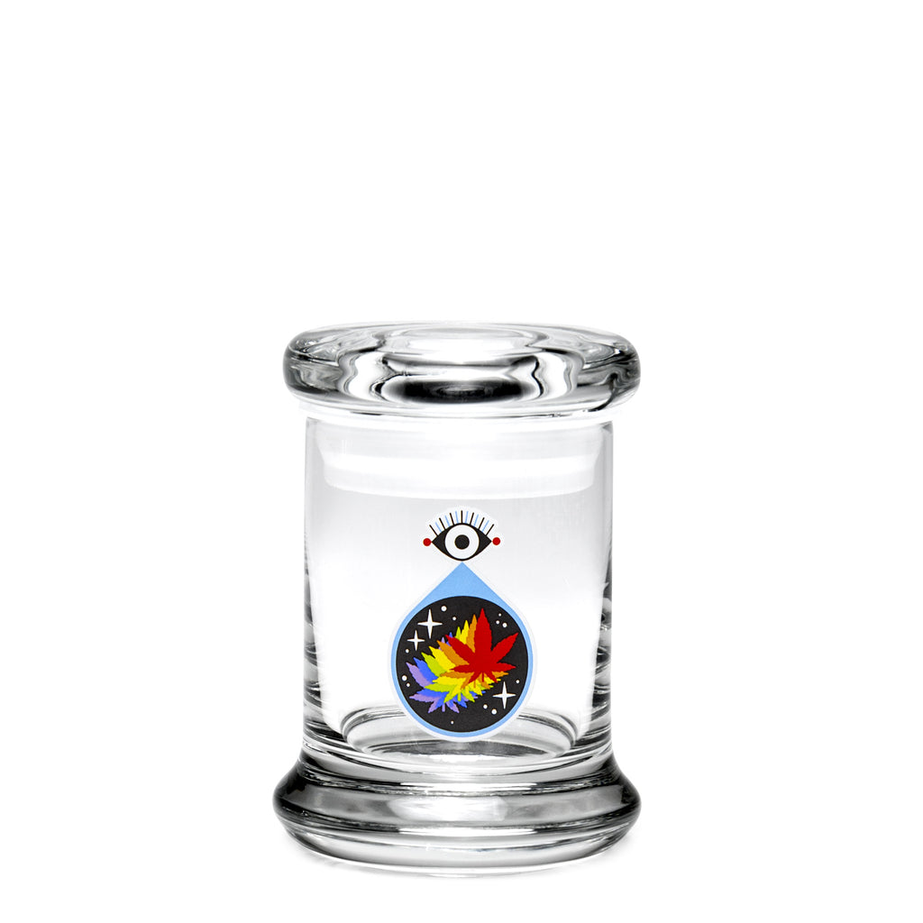 X-Small Pop-Top - All-Seeing Leaf - a 420 Jars, from 420 Science - find at 420Science.com
