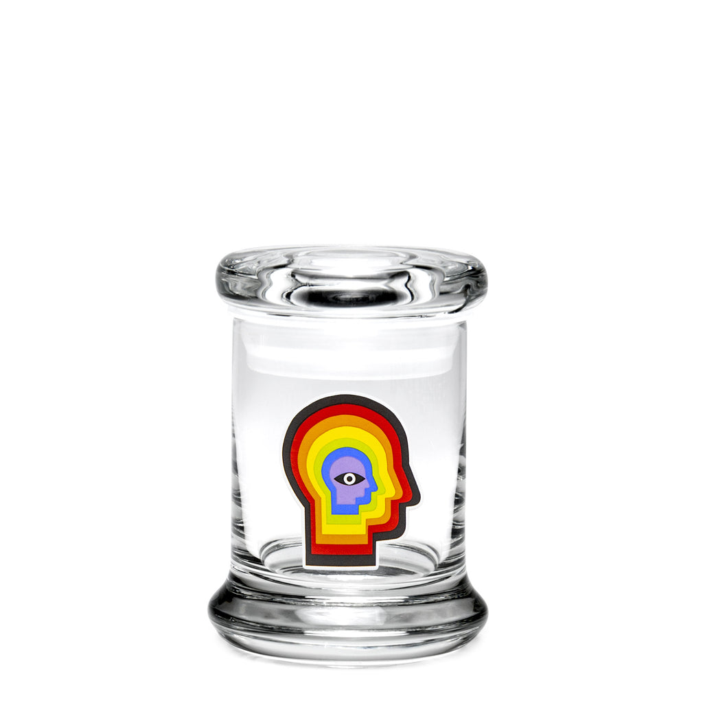 X-Small Pop-Top - Rainbow Mind - a 420 Jars, from 420 Science - find at 420Science.com