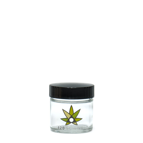 X-Small Clear Screw-Top - 420 Science Logo - a 420 Jars, from 420 Science - find at 420Science.com