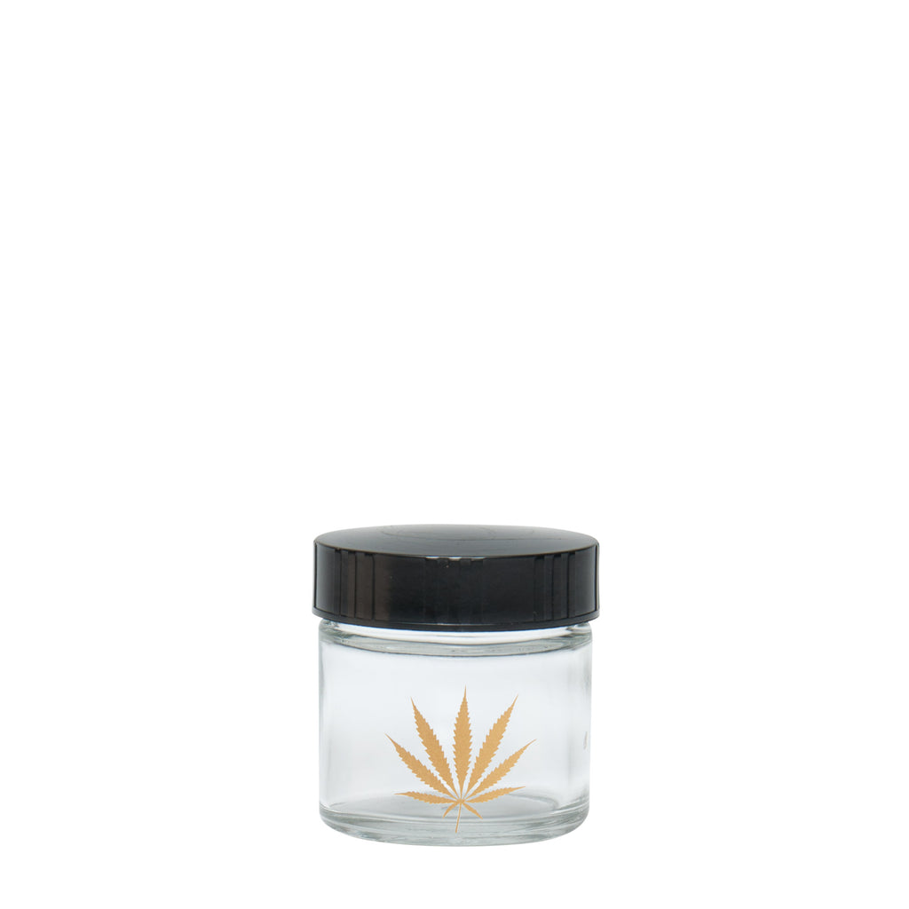 X-Small Clear Screw-Top - Gold Leaf from 420 Science -  - available at 420 Science - The most trusted online headshop.