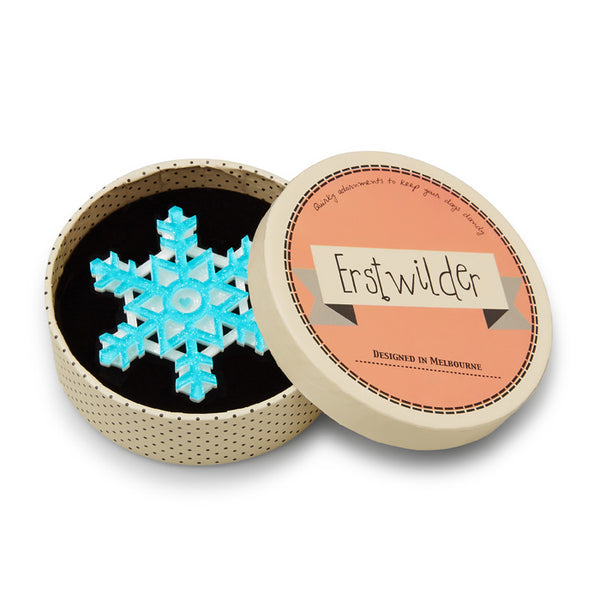Erstwilder Seasonal Symmetry Christmas Snow Flake Brooch
