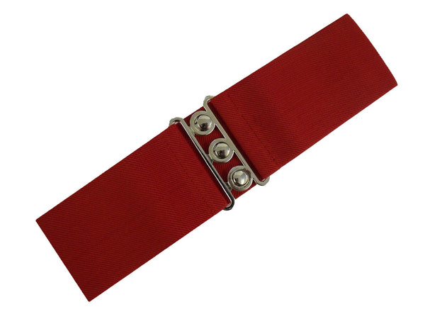 Hell Bunny Retro Elasticated Cinch Belt Black, Red or White