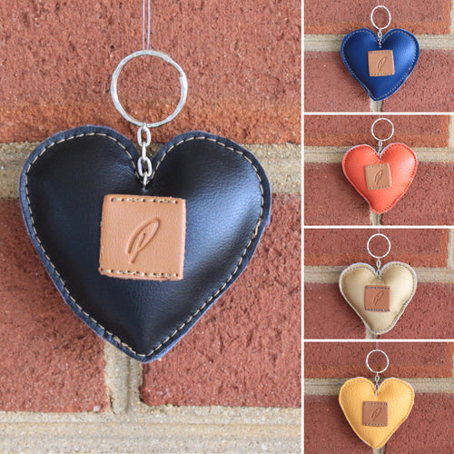 "Piranda's Handmade ""'P' Heart"" Key Ring"