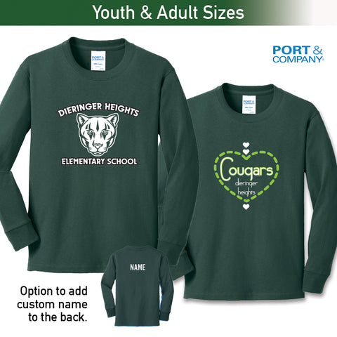 Dieringer Hts - Long Sleeve Tee, Youth & Adult