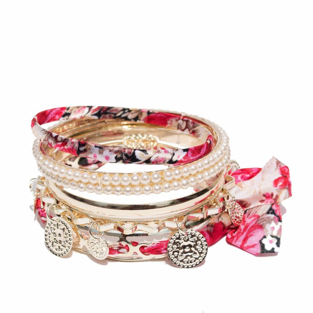Romantic Pink Bracelet Set - Joker & Witch - 2