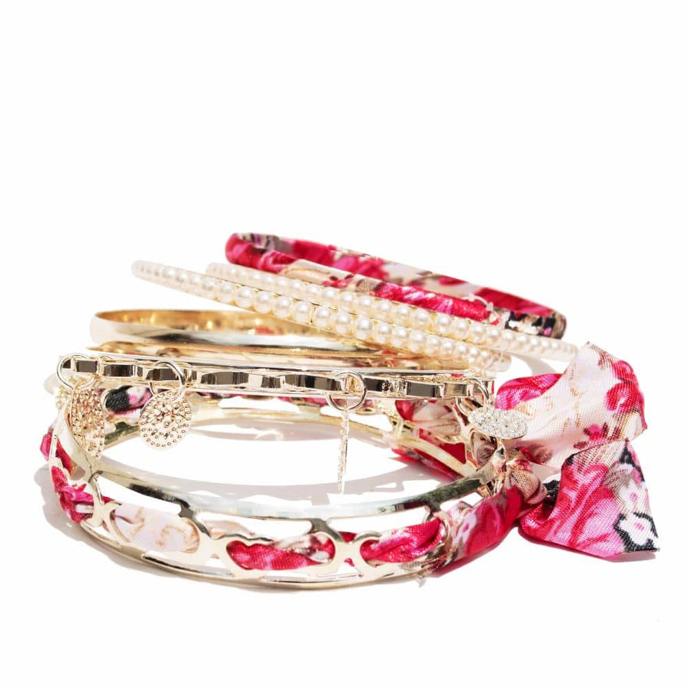 Romantic Pink Bracelet Set - Joker & Witch - 4