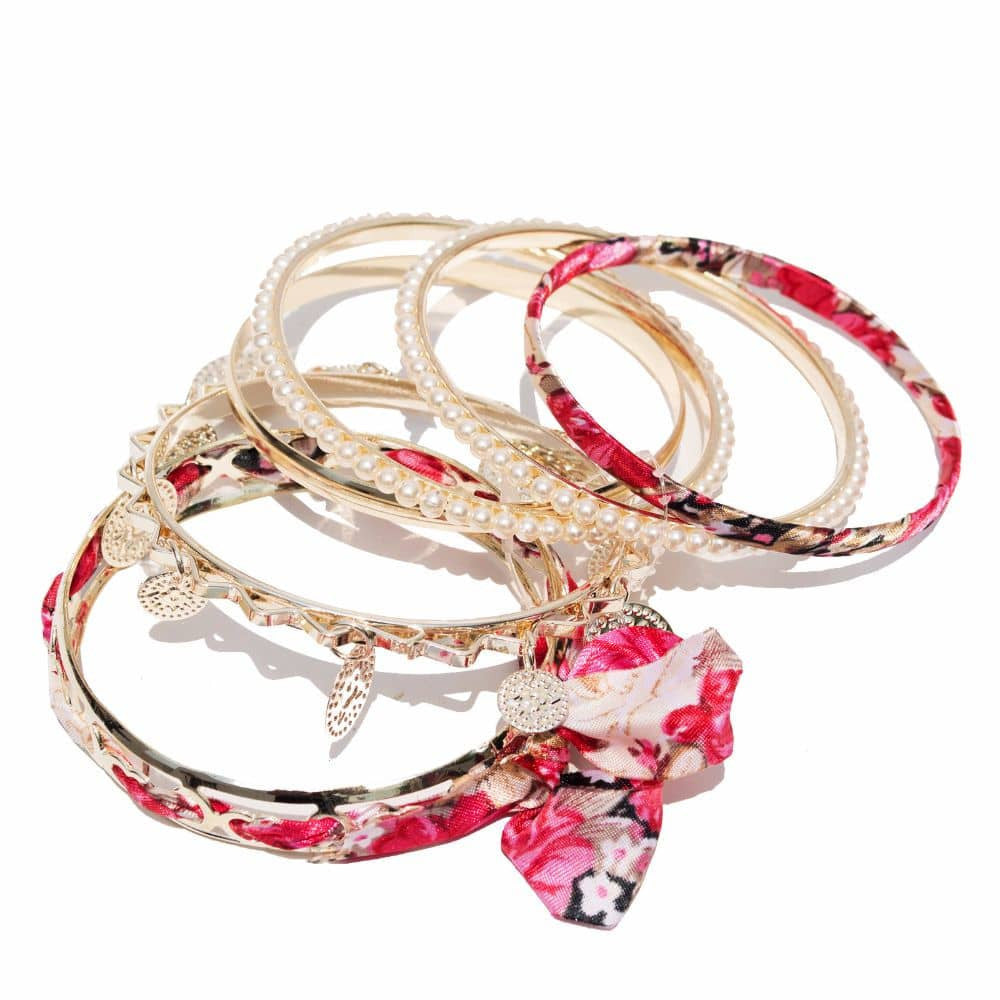 Romantic Pink Bracelet Set - Joker & Witch - 5