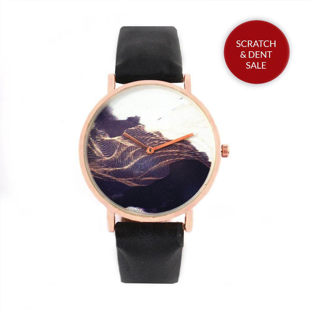 Betty Black Rosegold Graphic Watch