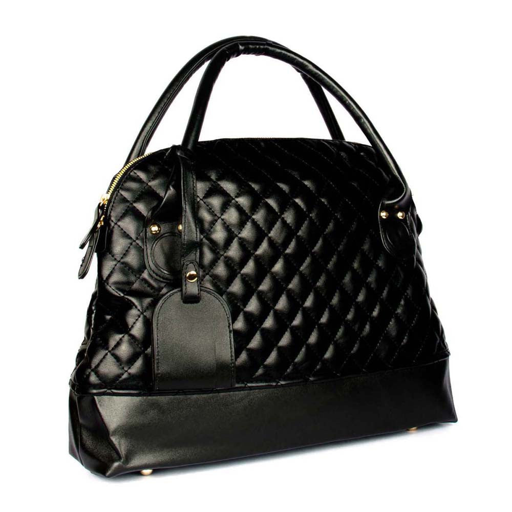 Black Quilted Shoulder Bag - Joker & Witch - 2