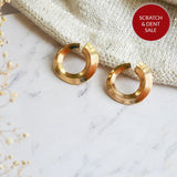 Circular Swirl Gold Earrings - Joker & Witch