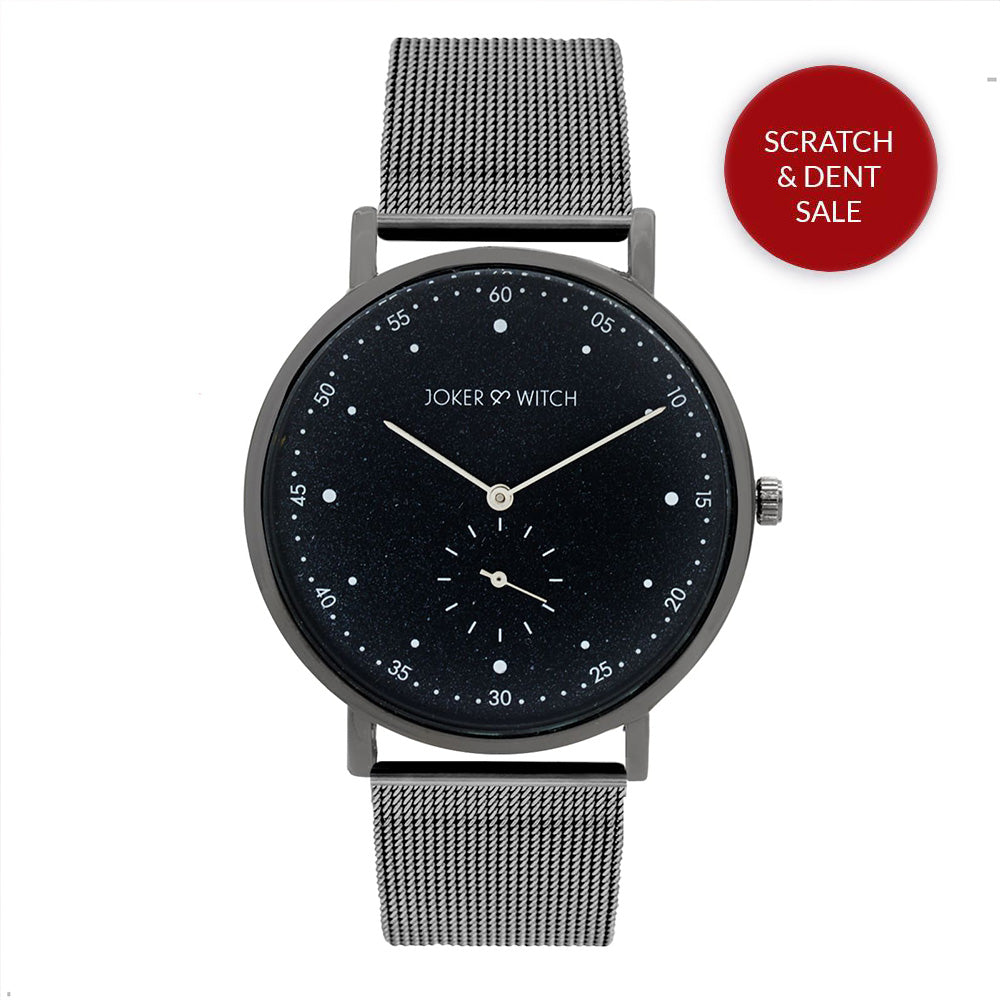 Drake Classic Gunmetal Mesh Watch