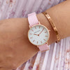 Candy Pink Rosegold Watch Bracelet Stack