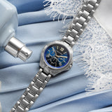 BLUE DIAL SILVER WATCH