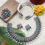 Chitra Multi colored Silver Oxidized Jewellery Gift Set