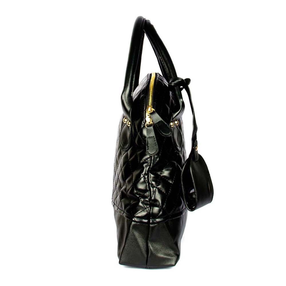 Black Quilted Shoulder Bag - Joker & Witch - 3
