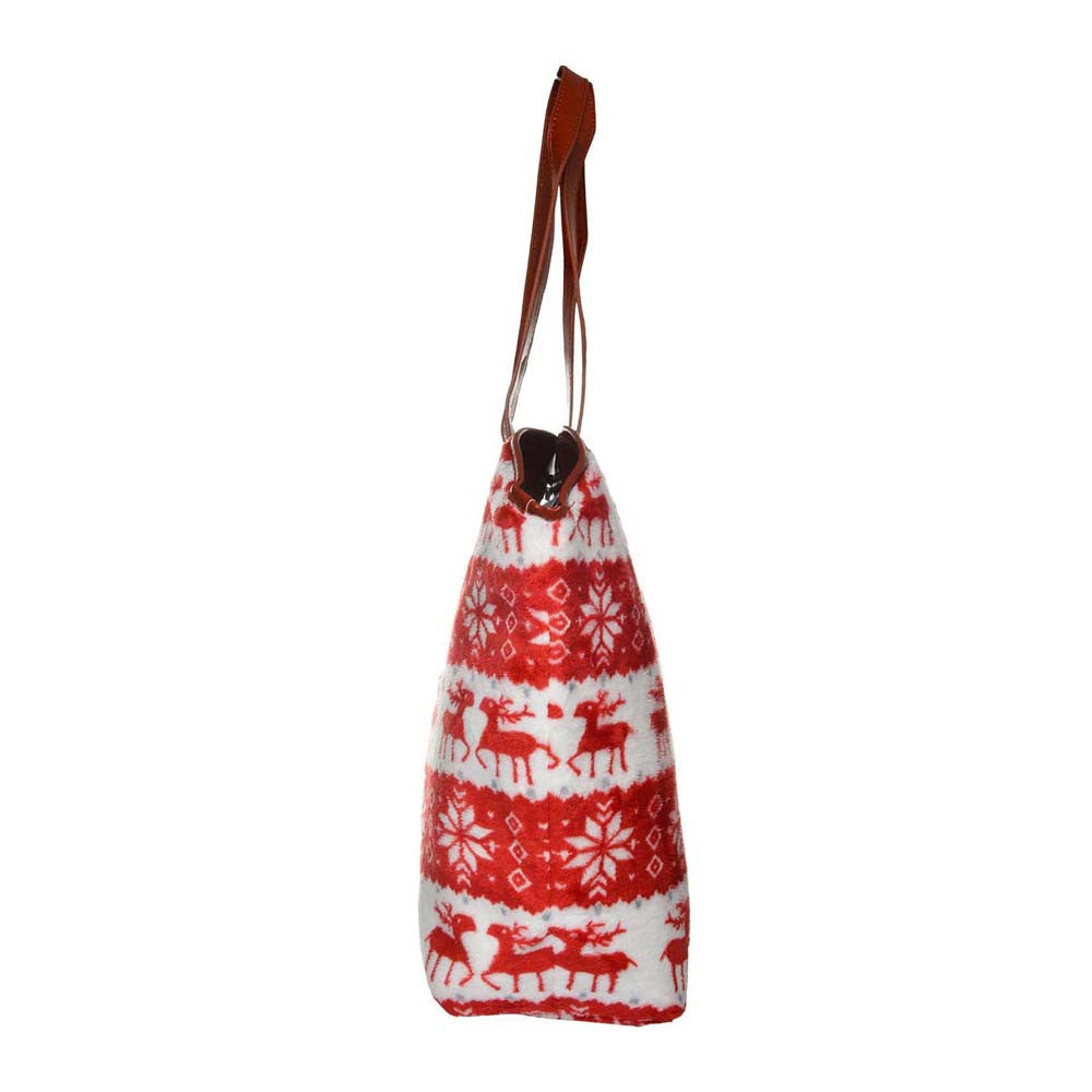 Red Soft Velvet Reindeer Bag - Joker & Witch - 3