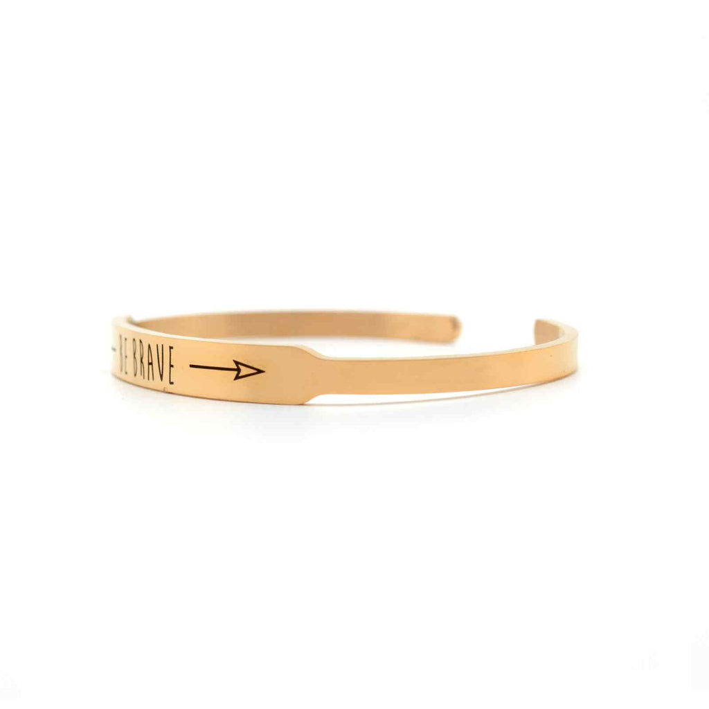 BE BRAVE Rose Gold Mantra Band