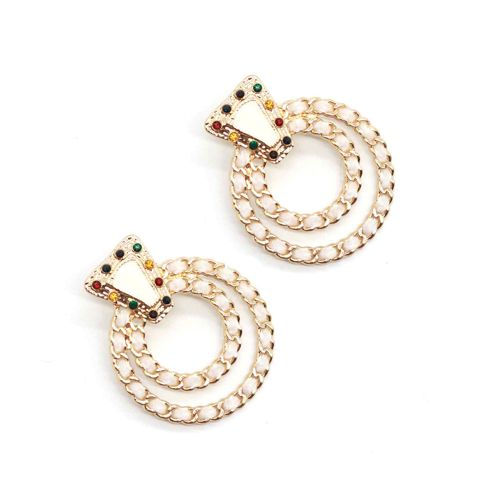 Opera white earring - Joker & Witch