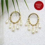 Keshi Pearl Gold Earrings - Joker & Witch