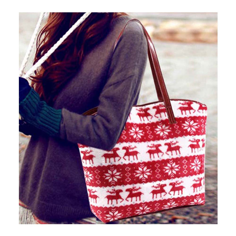 Red Soft Velvet Reindeer Bag - Joker & Witch - 6