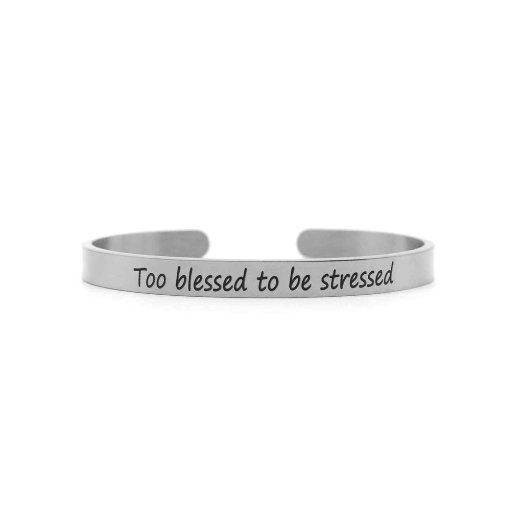 Too blessed to be stressed Silver Mantra Band - Joker & Witch