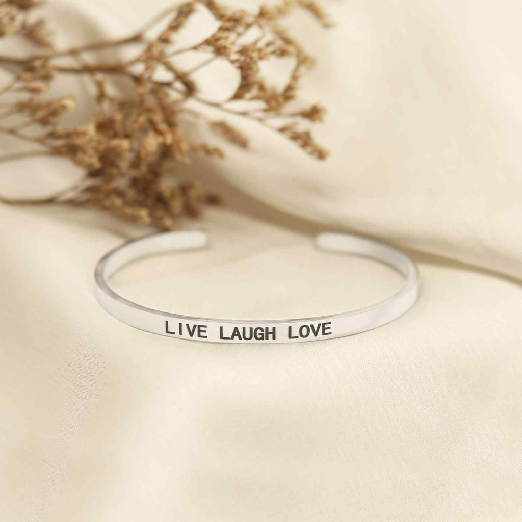 LIVE LAUGH LOVE Silver Mantra Band - Joker & Witch