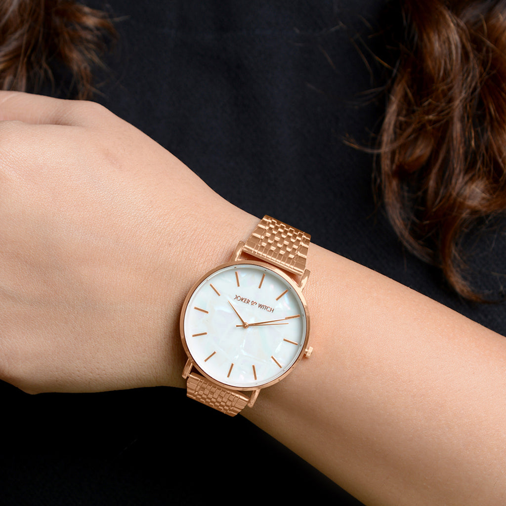 Nebula White Dial Rosegold Watch
