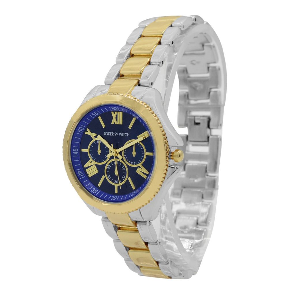 BLUE DIAL GOLD & SILVER WATCH