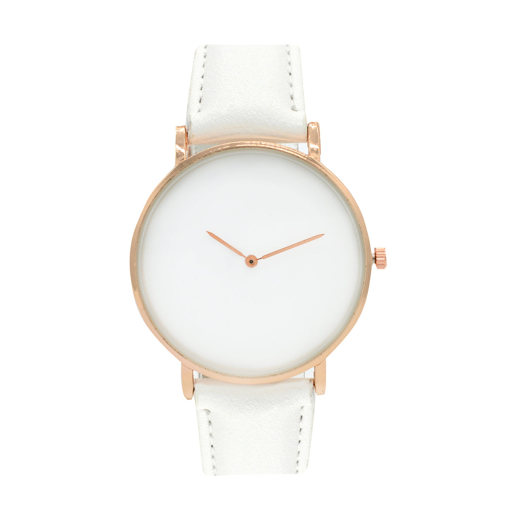 MINIMAL SLEEK WHITE WATCH