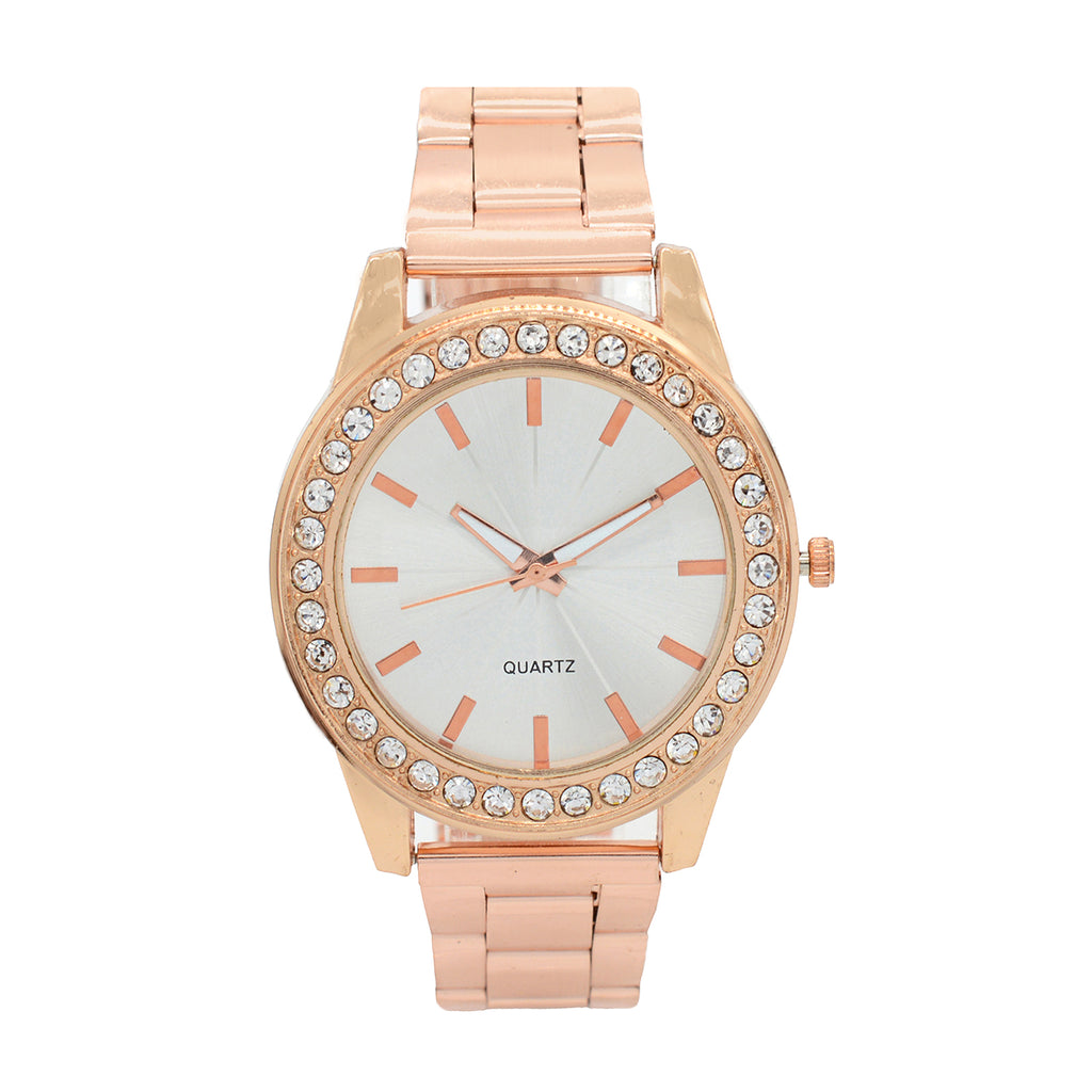 BELLA RHINESTONES STUDDED ROSEGOLD WATCH - Joker & Witch