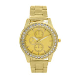 BELLA RHINESTOES STUDDED CHRONO GOLD WATCH - Joker & Witch
