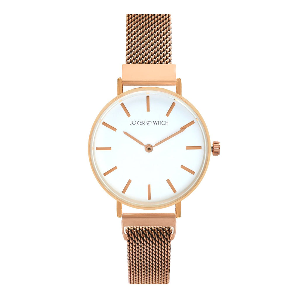 Natalie White Dial Rosegold Watch
