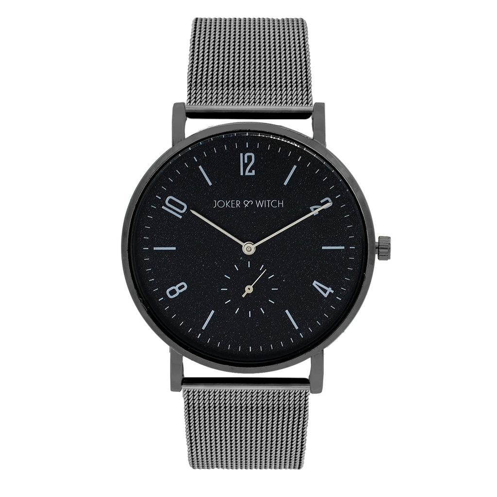 NOEL CLASSIC GUNMETAL MESH WATCH - Joker & Witch