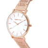 Signature White Dial Rosegold Watch