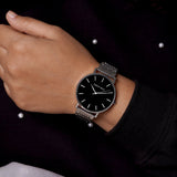 Signature Black Dial Silver Watch
