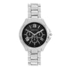 Ella Black Dial Silver Watch