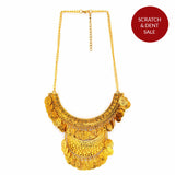 Ethnic Gold Coin Necklace