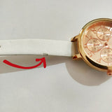 Rosegold Dial White Watch - Joker & Witch