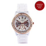 Diamante White Watch
