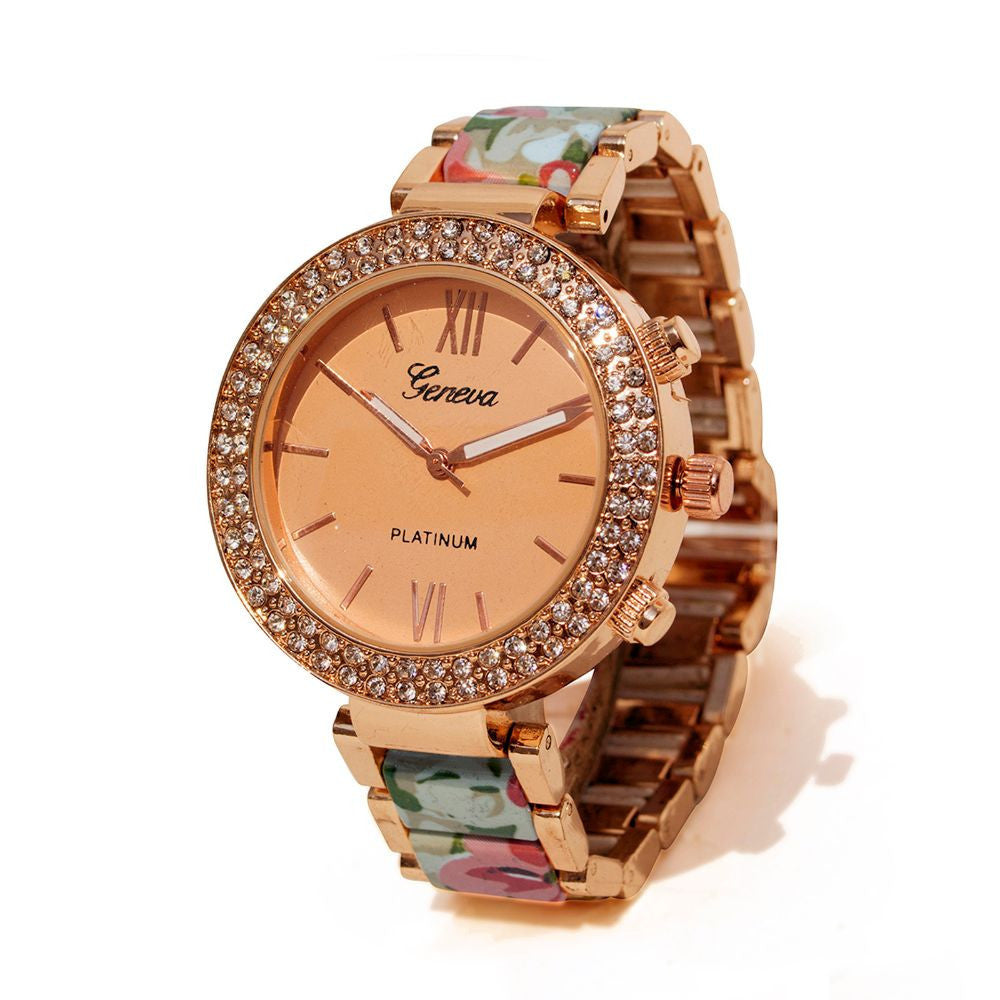Floral strap Beige & rosegold watch - Joker & Witch - 2