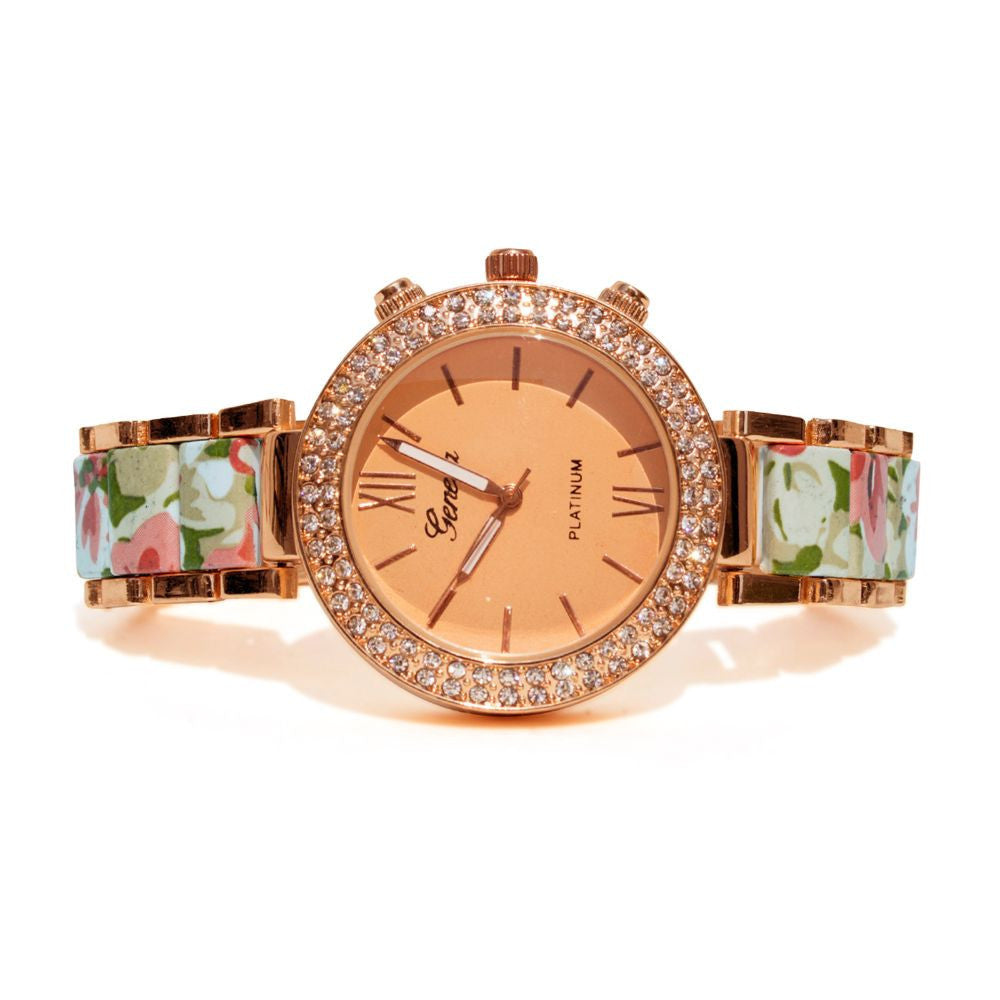 Floral strap Beige & rosegold watch - Joker & Witch - 3