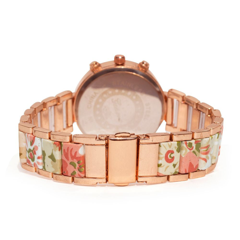 Floral strap Beige & rosegold watch - Joker & Witch - 4