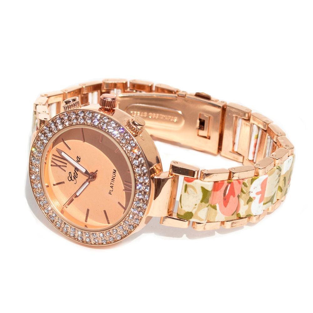 Floral strap Beige & rosegold watch - Joker & Witch - 5
