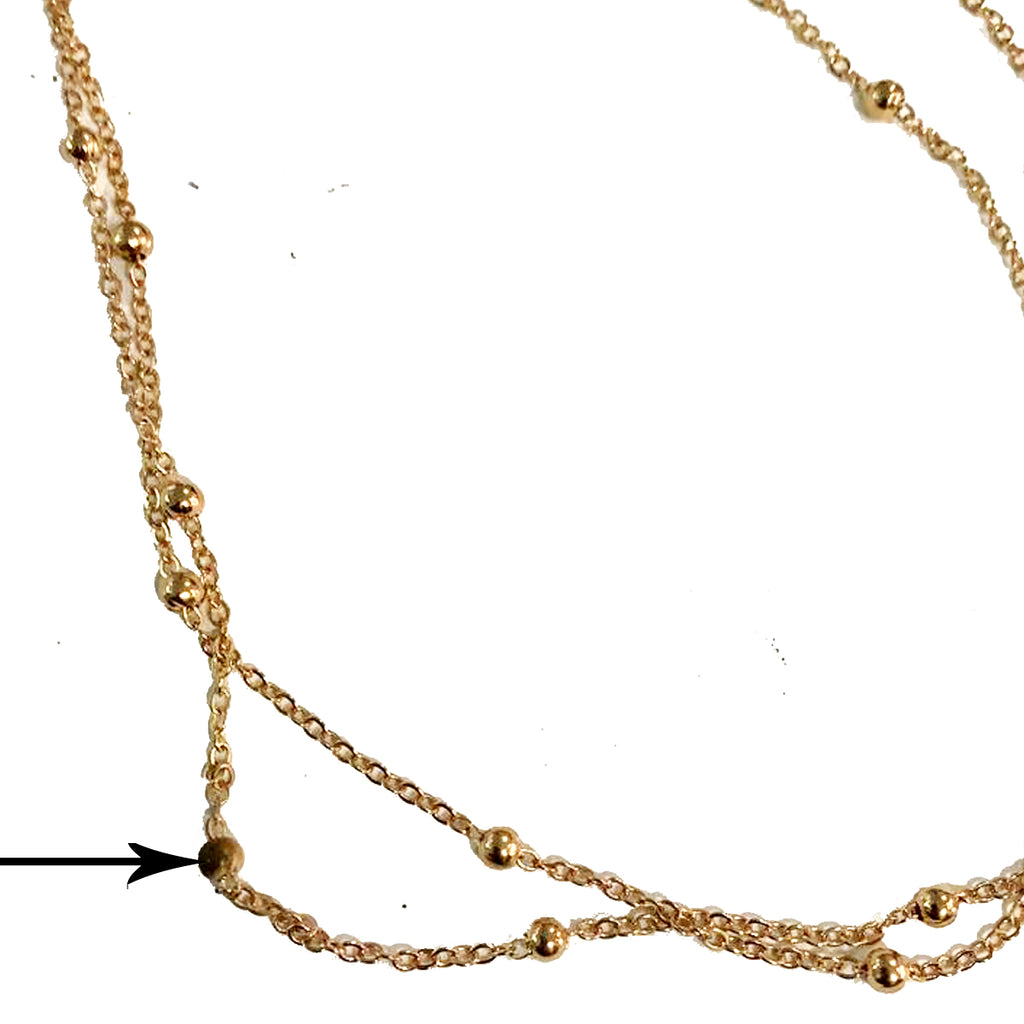 Golden Bead Belly Chain - Sample