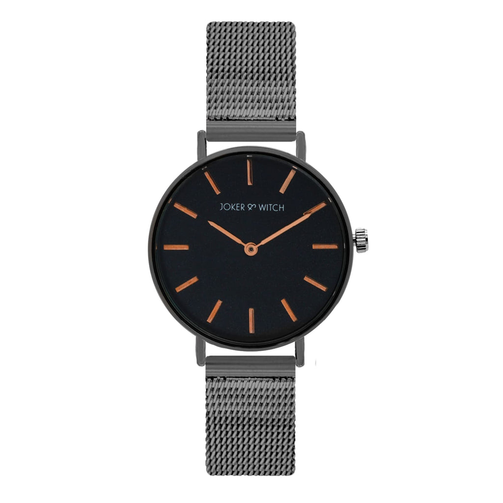 Venus Gunmetal Watch Bracelet Stack - Joker & Witch