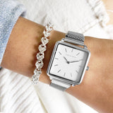 Smile Silver Watch Bracelet Stack - Joker & Witch