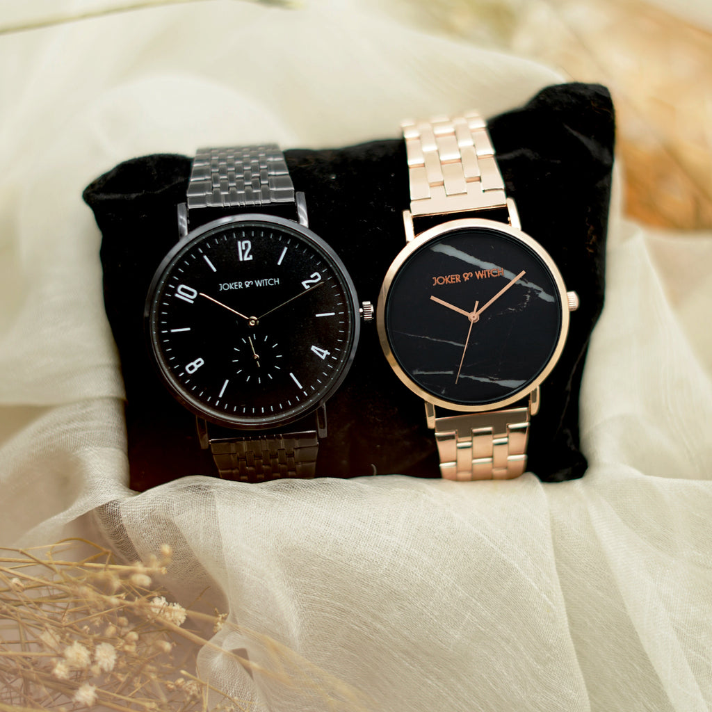Yorkie & Kelly Couple Watches