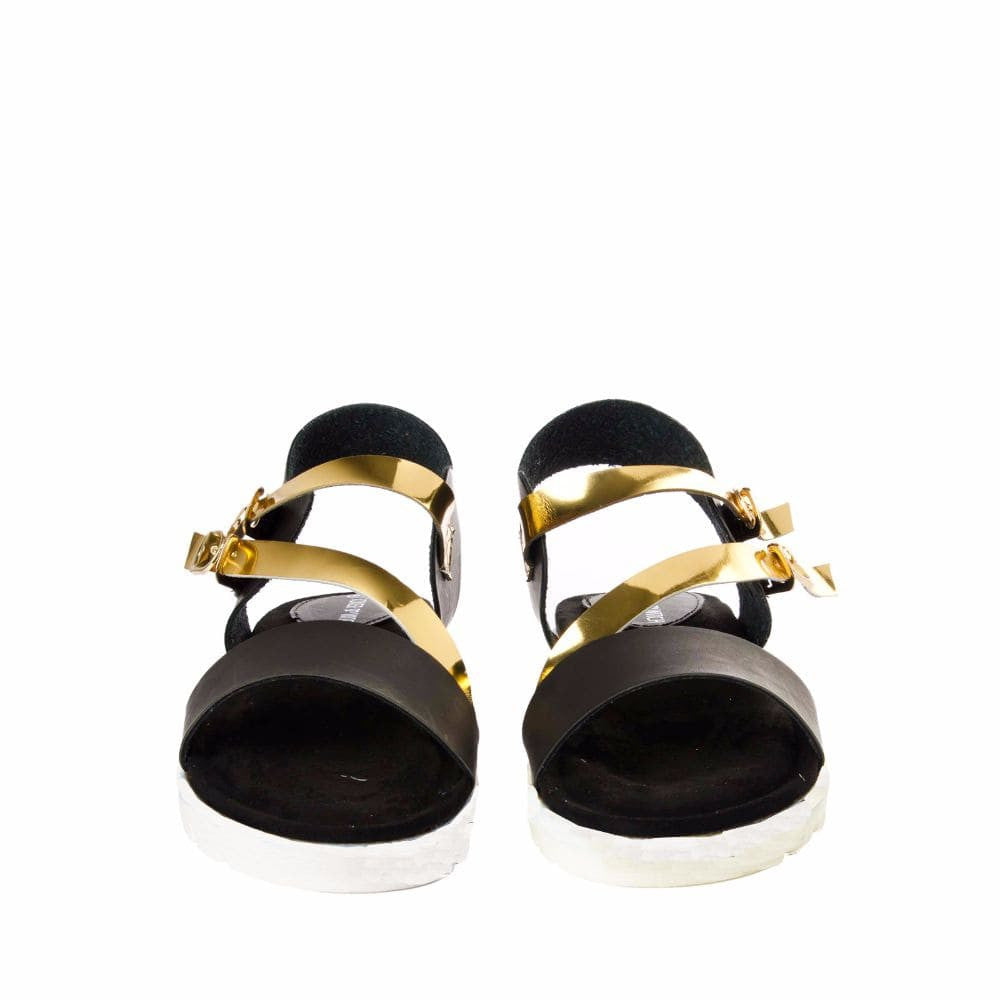 Strappy Gold and Black flatform sandal - Joker & Witch - 9